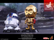 Hot Toys Star Wars TFA C-3PO & R2-D2 Cosbaby Bobble-Head Collectible Set -Shanghai Exclusive