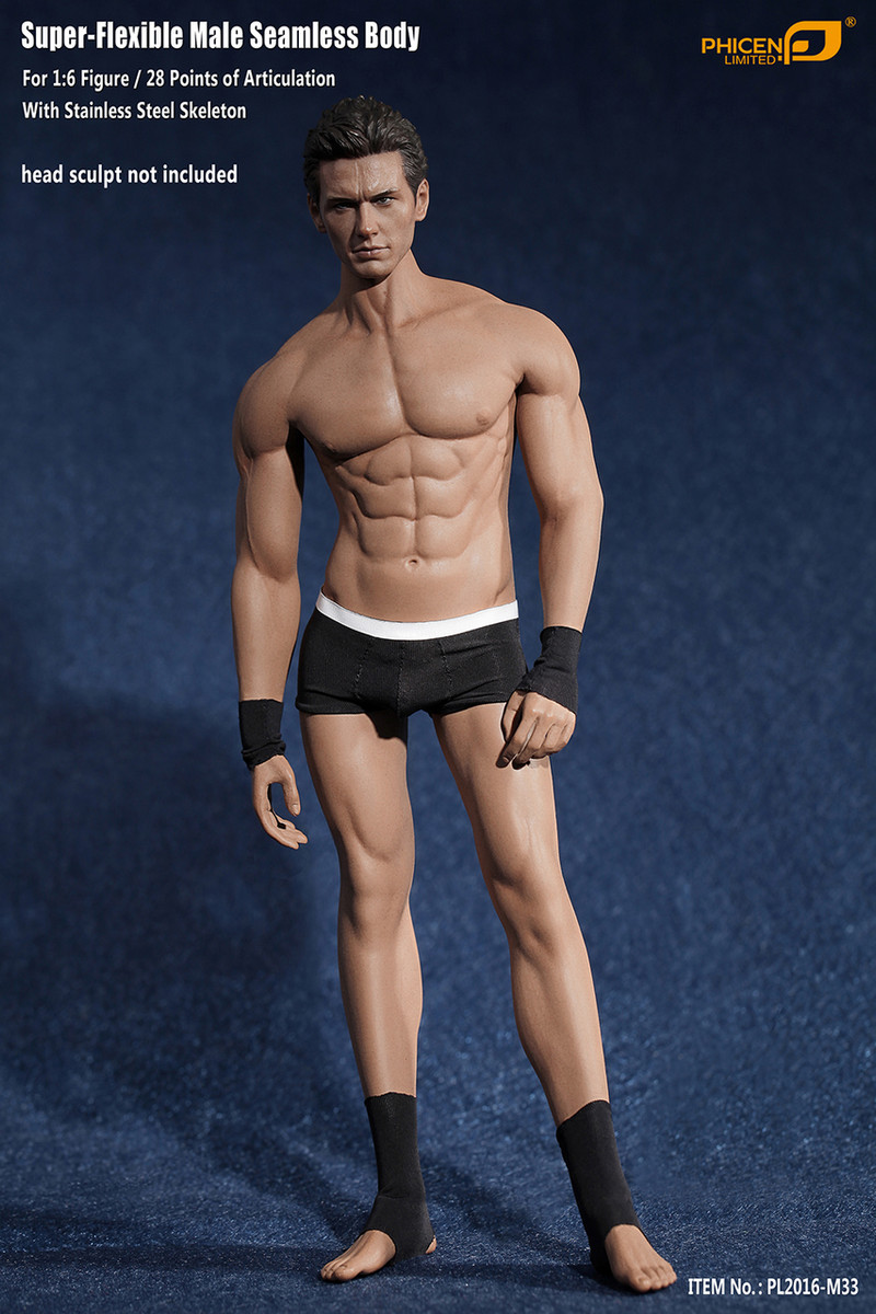 phicen pl2016 m33 1 6 super flexible male seamless body with