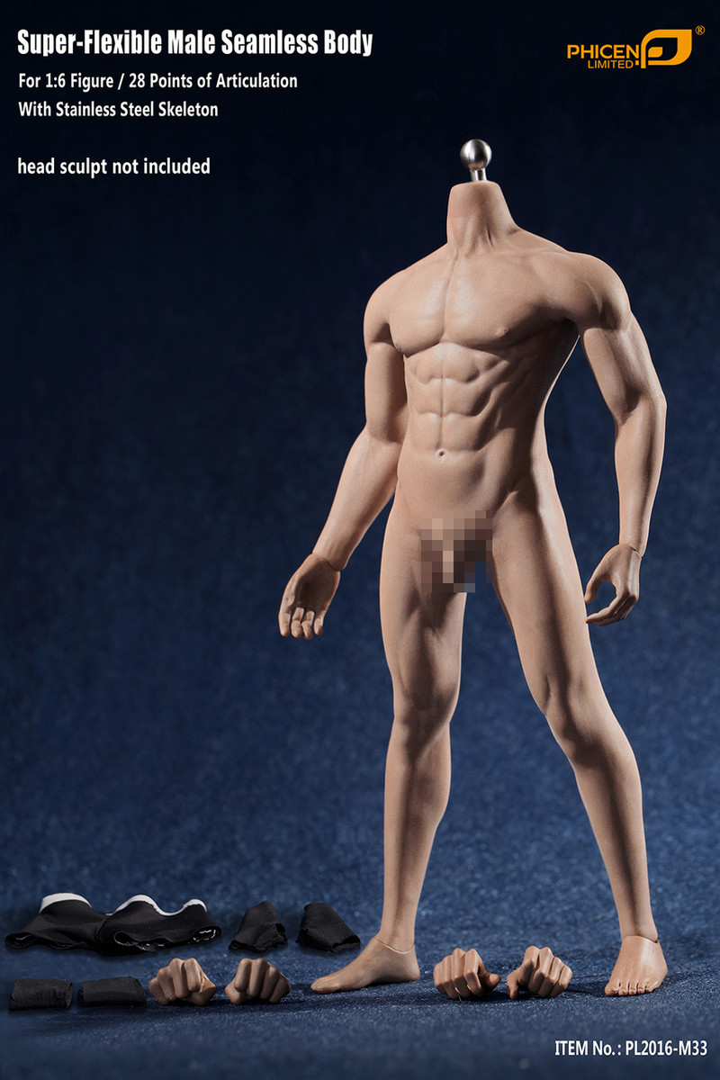 1//6 Flexible Male Muscular Body Action Figure Nude TOF
