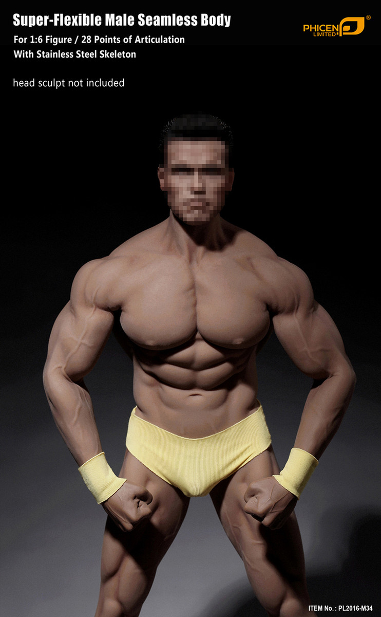 Phicen Super Flexible Male Seamless Body with stainless steel skeleton M34