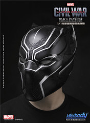 KIllerbody 1:1 Life Size Captain America Civil War  Black Panther Helmet