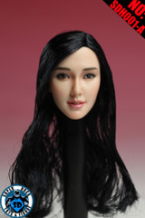SUPER DUCK SDH001-A  1/6 Scale Asian Girl Head Sculpt Black Hair