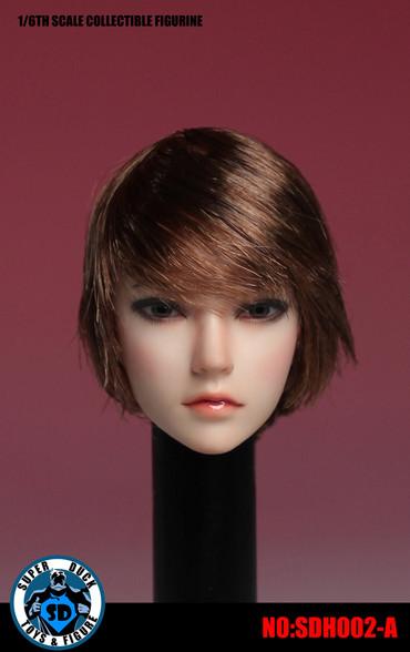 1//6 Super Duck Action Figure Asian Female Head Sculpt SDH002-C For TBLeague