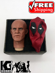 Burning Soul 1/6 Scale Ryan Male Burnt Head Sculpt  with Mask