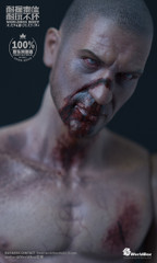 WorldBox AT019 1/6 Scale Nude Durable Figure Body with Zombie Head Sculpt
