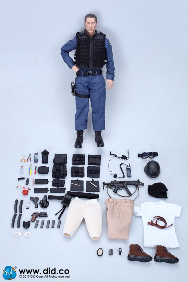 90/'s SWAT Kenny Keanu DID Action Figures Nude Figure - 1//6 Scale