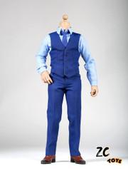 ZC Toys 1:6 Scale Ben Affleck Men's Blue Suit