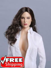 Peak Toys PT005  1/6 Scale Female Dark Hair  Head Sculpt-Monica Bellucci