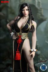 SUPER DUCK SET016 1/6 Scale Chinese Female Fighting  Head Sculpt + Costume Set