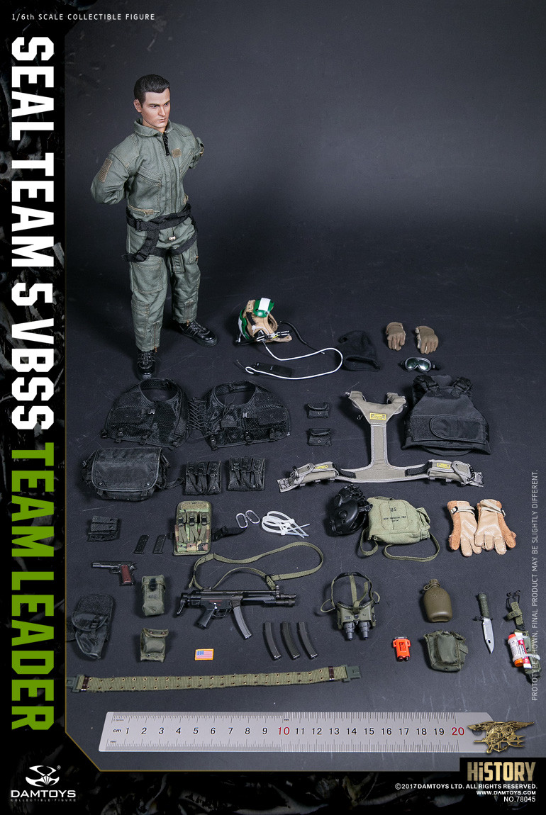 1//6 scale toy Seal Team 5 VBSS Team Leader ABA Black Drop Leg Holster /& Pouch