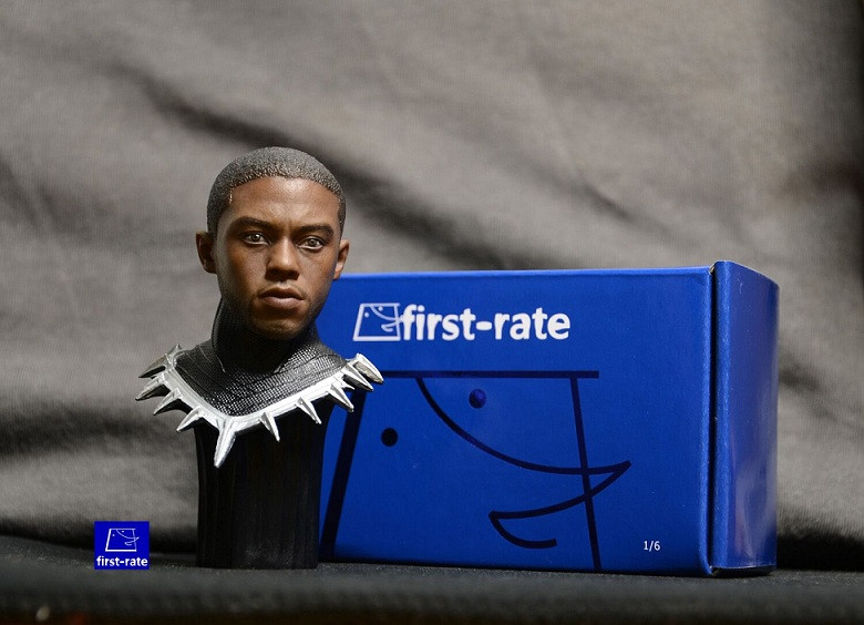 1//6 Black Panther Chadwick Boseman Head Sculpt For Hot Toys PHICEN Male Figure