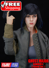 Figure Club GM01 1/6 Scale Female Ghost Major Head Sculpt + Costume Set