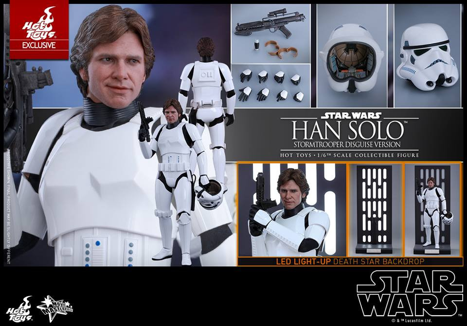 Hot Toys Mms418 Star Wars Episode Iv A New Hope Han Solo Stormtrooper Disguise Version 1 6th Scale Collectible Figure