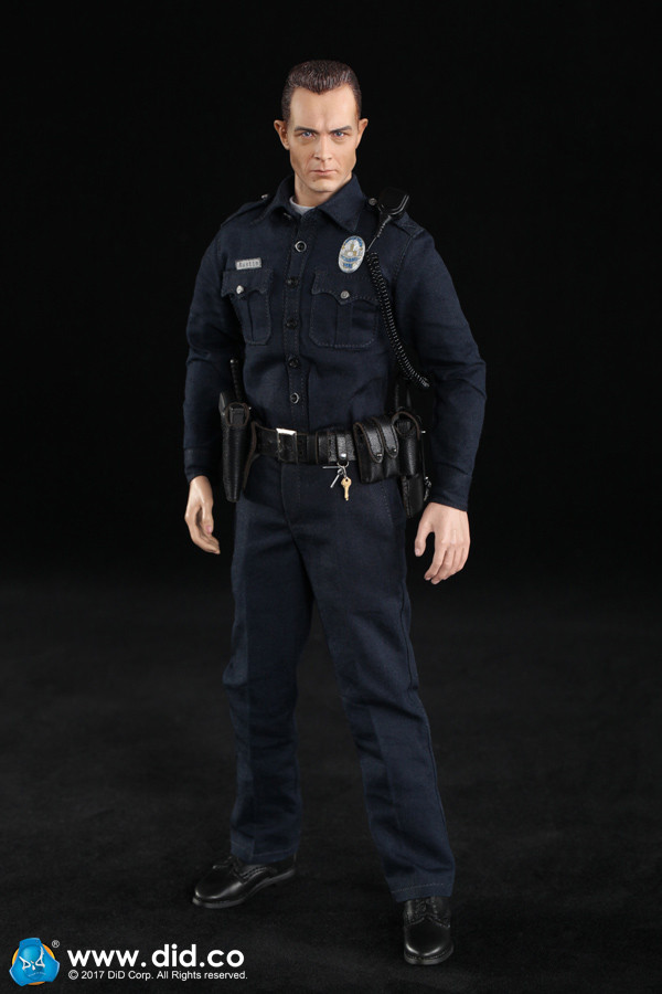 1//6 Scale LAPD Austin Pistol w// Leather Holster DID Action Figures