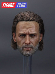 Figure Club 1/6 Rick Head Sculpt with hair implantation