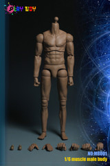 PLAY TOY MB001 1/6 Male Muscular Slim Body
