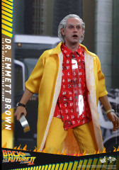 Hot Toys MMS380 Dr. Emmett Brown Back to The Future Part II - 1/6 Scale Figure Special Edition