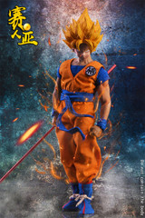 TYS Cosplay series 1:6 model Saiyan warrior Wu Head Sculpt + Costume set
