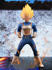 TYS Cosplay series 1:6 model Saiyan warrior Tower Head Sculpt + Costume set