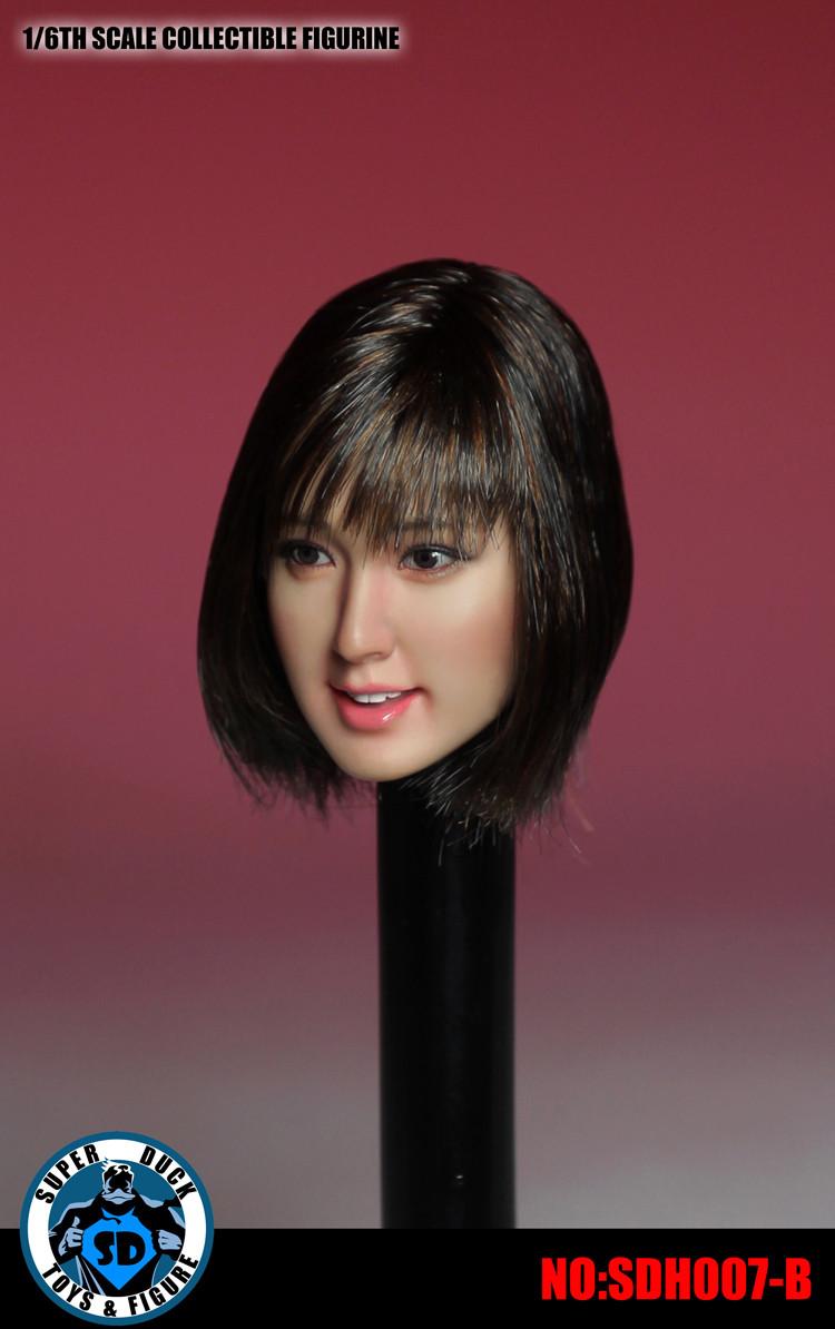 1//6 Asian Female Head Sculpt SUPERDUCK SDH007A For PHICEN TBLeague Figure U.S.A.