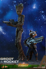 Hot Toys MMS476 Avengers Infinity War 1/6th scale Groot & Rocket Collectible Set
