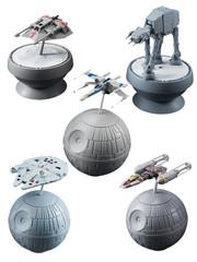 Bandai Star Wars Gashapon Q Gaspahon Series 2 X-Wing Y-Wing ATAT Millennium Falcon Snowspeeder Full Set