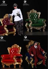 HAOYUTOYS 1/6 Single Sofa Antique European style 3.0 ZH18012  4 Colours
