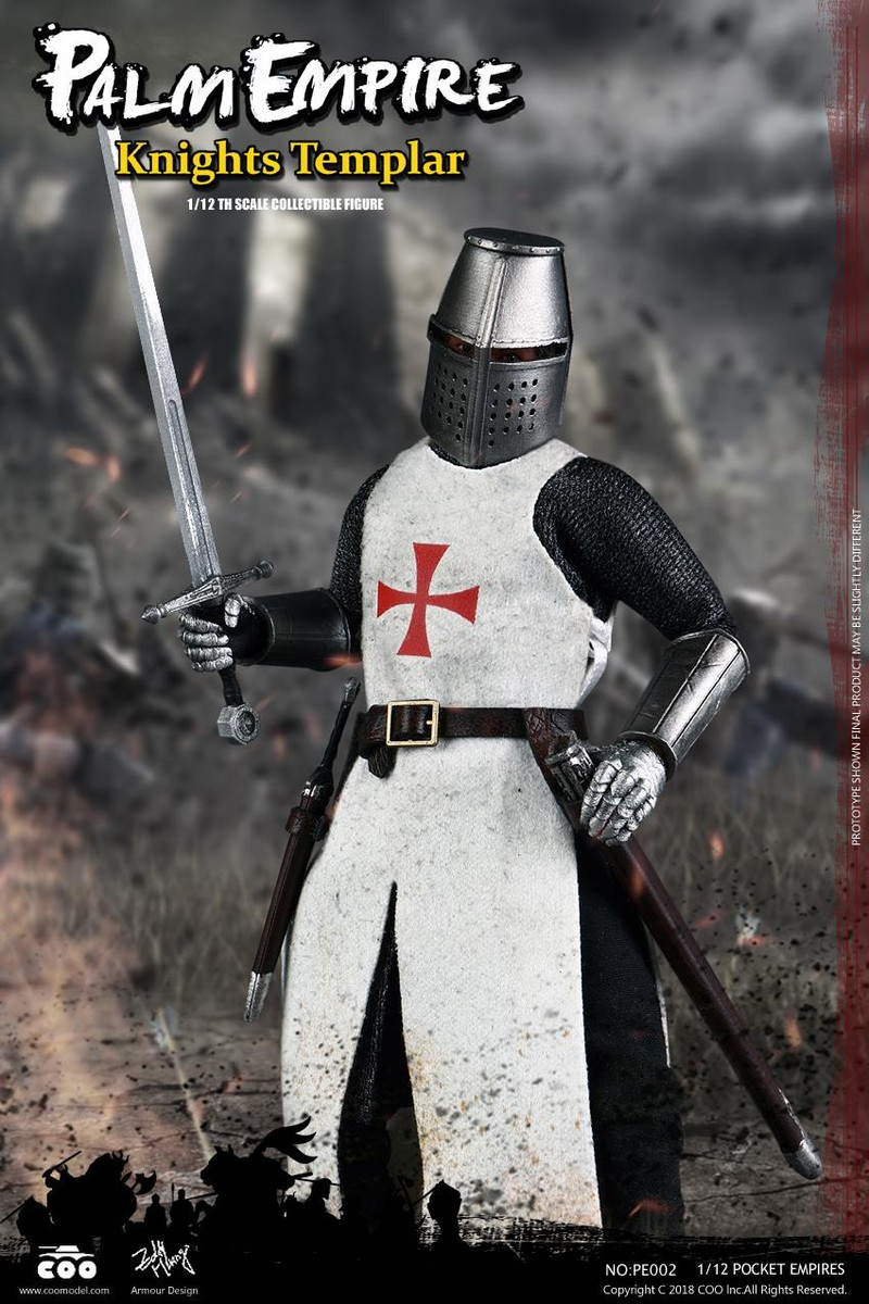 Armed Hands for COOMODEL PE001 POCKET EMPIRES TEUTONIC KNIGHT 1//12 Scale New