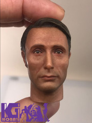 Custom 1/6 Action Figure Male Head Sculpt-Mads