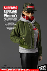 SuperMCTOYS  F-076 1:6 Female Street Style Flight Jacket Sets