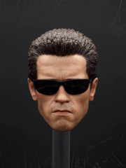 Custom Made 1/6 Scale Male T2 Head Sculpt  with sun glasses