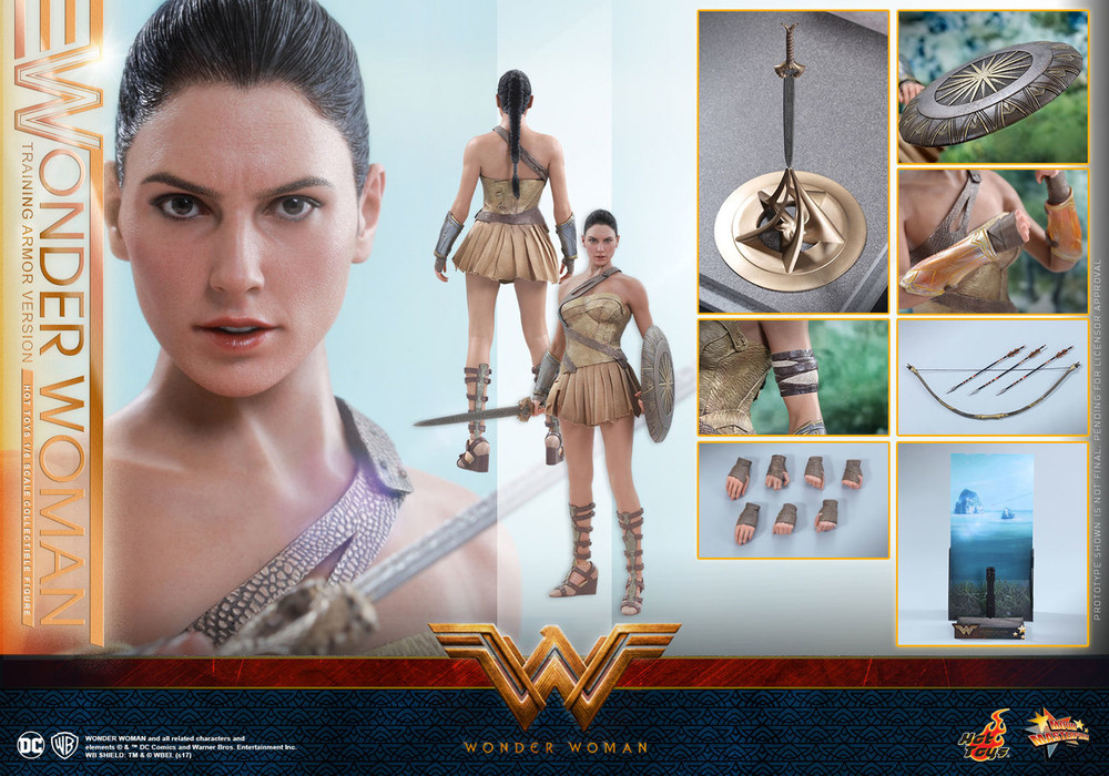 Film, TV & Videospiele Hot Toys Wonder Woman Training Armour Cosbaby New