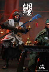 INFLAMES X NEWSOUL IFT-036 The 1/6th scale Sets Of Soul Of Tiger Generals -Zhou Cang & Guan Yu's Night Reading Scene Collectible Set