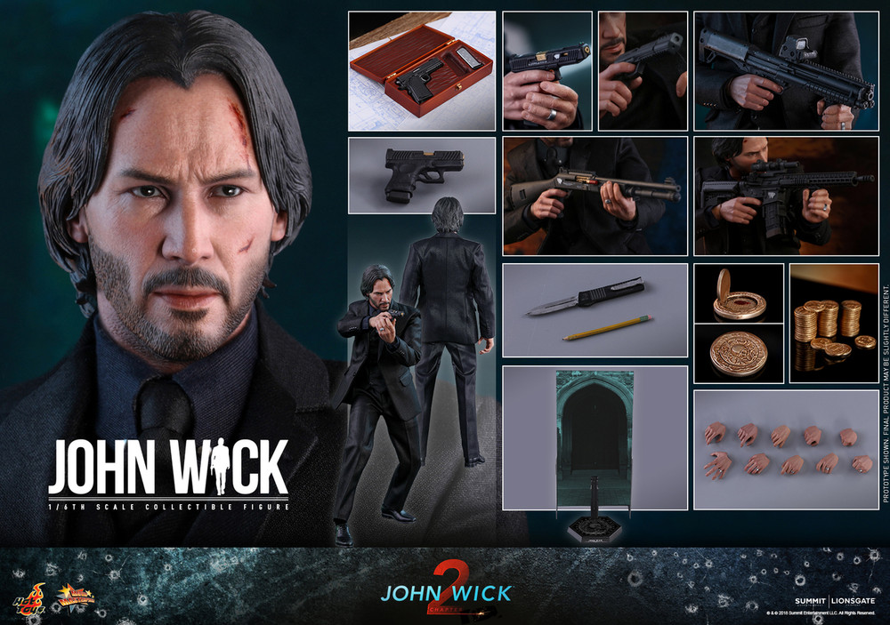 Hot Toys Mms504 John Wick Chapter 2 1 6th Scale John Wick Collectible Figure