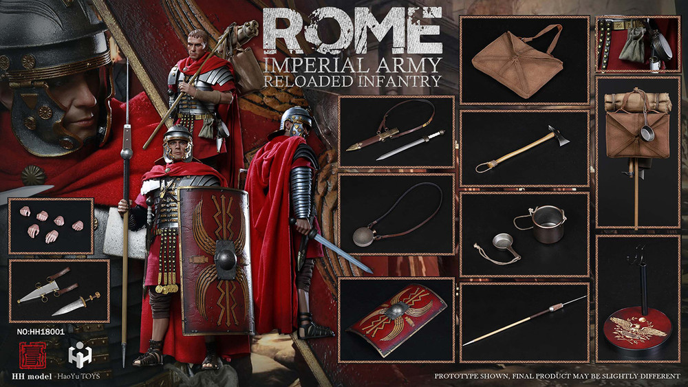 1//6 HaoYu TOYS HH18001 Rome Imperial Army Reloaded Infantry Roman Clothing