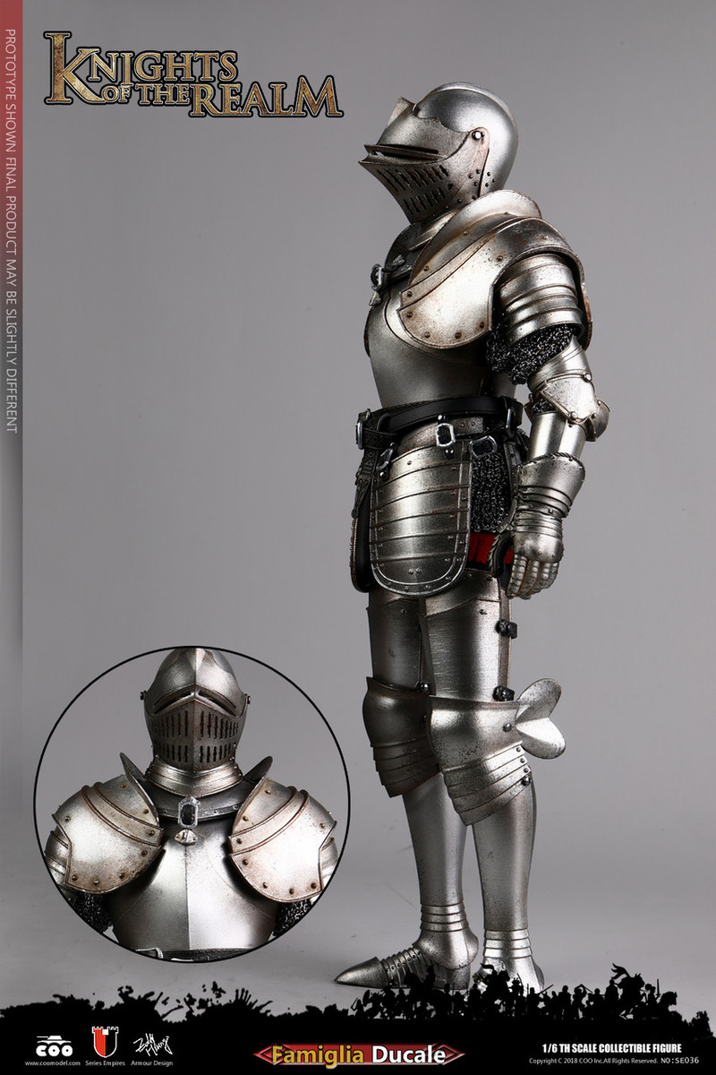 COOMODEL SE036 Die-Cast Alloy 1//6 KNIGHTS of REALM Famiglia Ducale Knee Armor