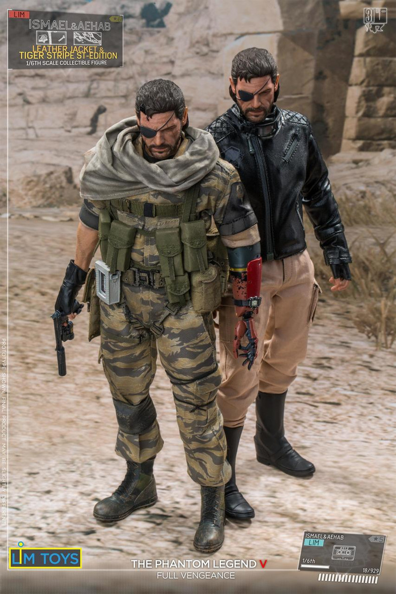 1//6 Scale Toy Phantom Legend Snake Metal Gear Cassette Player /& Holster Set