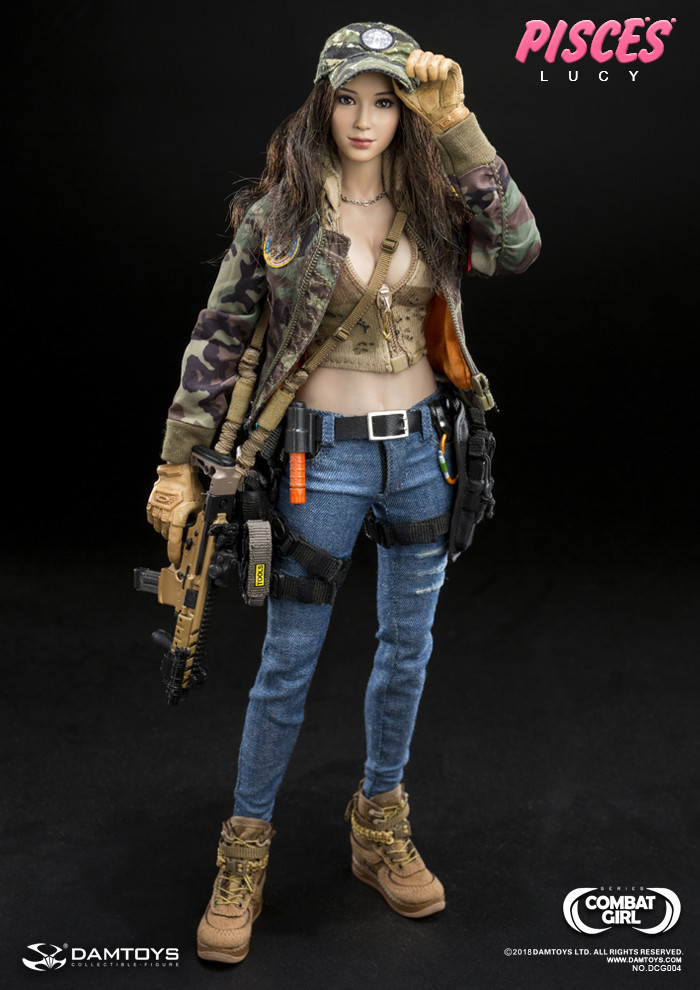 1//6 Scale DAMTOYS DCG004 COMBAT GIRL SERIES PISCES LUCY pants