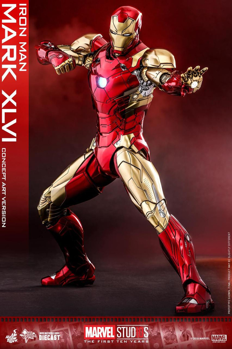 Hot Toys Mms489d25 Marvel Studios The First Ten Years Iron Man Mark
