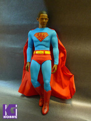 Custom Made 1/6 Superman action figure jumpsuit