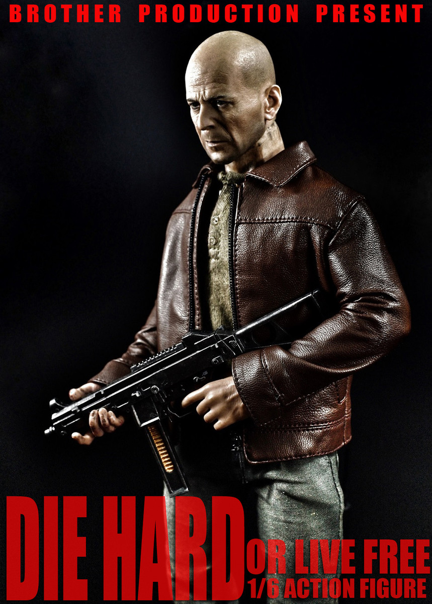 Brother Action Figures HK UMP Submachine Gun Die Hard Johnny 2.0 1//6 Scale