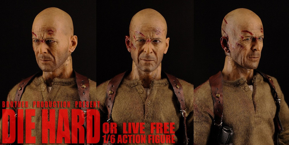 Brother Action Figures Die Hard Johnny 2.0 1//6 Scale HK UMP Submachine Gun