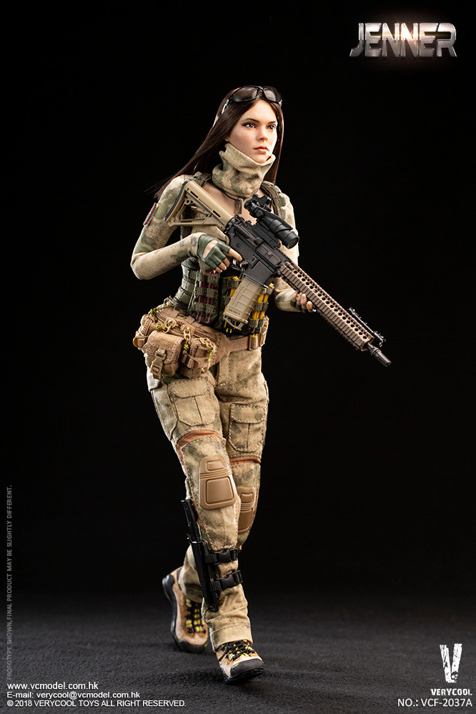 Scarf for VERYCOOL VCF-2037A A-TACS FG Women Soldier JENNER 1//6 Scale Action