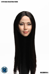 SUPER DUCK SDH010-A 1/6 Scale Asian Beauty Girll Head Sculpt Black Long Hair