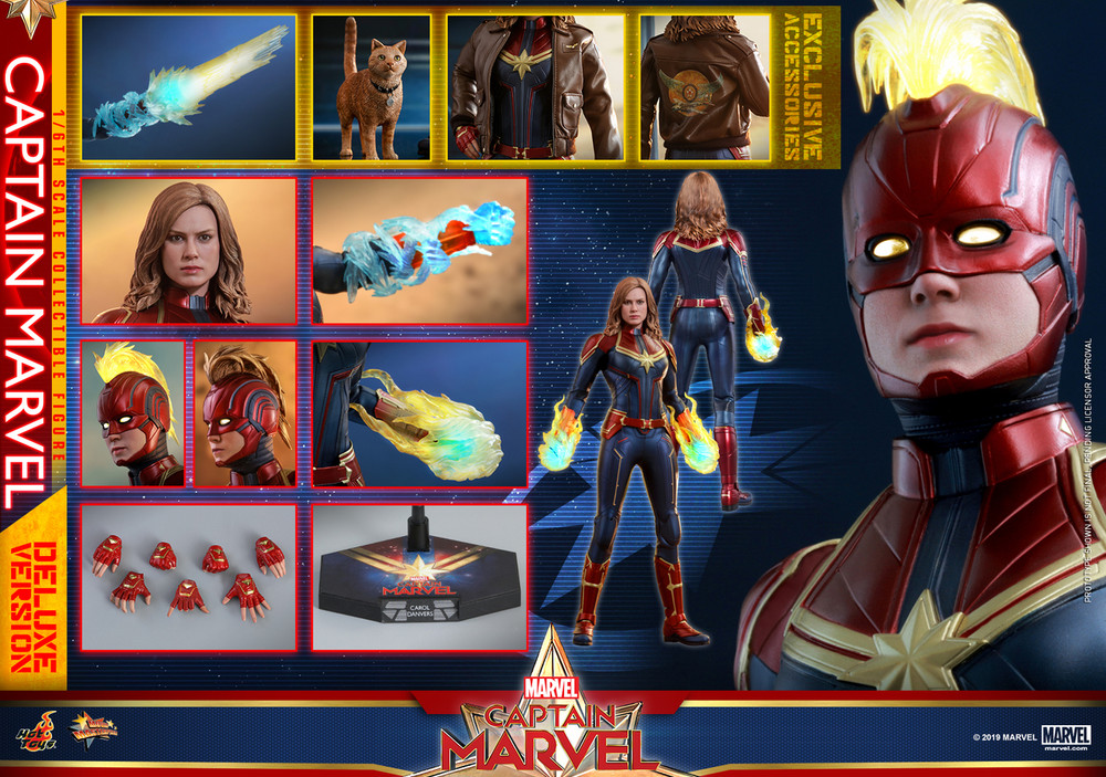 Deluxe Ver head sculpt #2 1//6 Scale Hot Toys MMS522 Captain Marvel