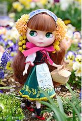 "Takara NEW 12"" NEO Limited Blythe Doll Joana Gentiana Gentian Figure"