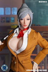 SUPER DUCK SET044 1/6 Sexy Office Lady Head Sculpt & Costume Set