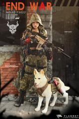 "FLAGSET 1/6 DOOMSDAY WAR SERIES END WAR DEATH SQUAD ""U"" Umir + Dog Suit"