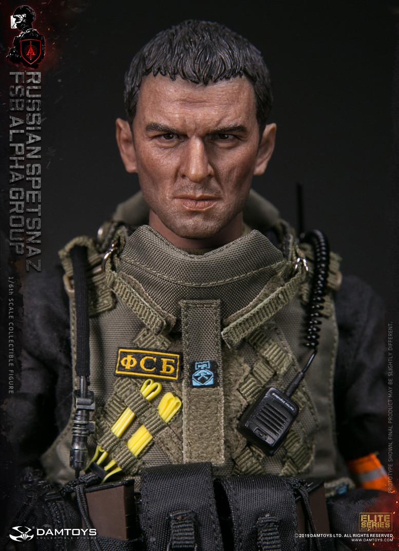 """DAMTOYS 78064 1//6 Russian Spetsnaz FSB Alpha Group 12/"""" Action Figure Head Sculpt"""