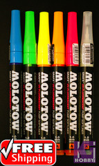 Molotow UV Fluorescent Pump Softliner Marker 1mm Brush